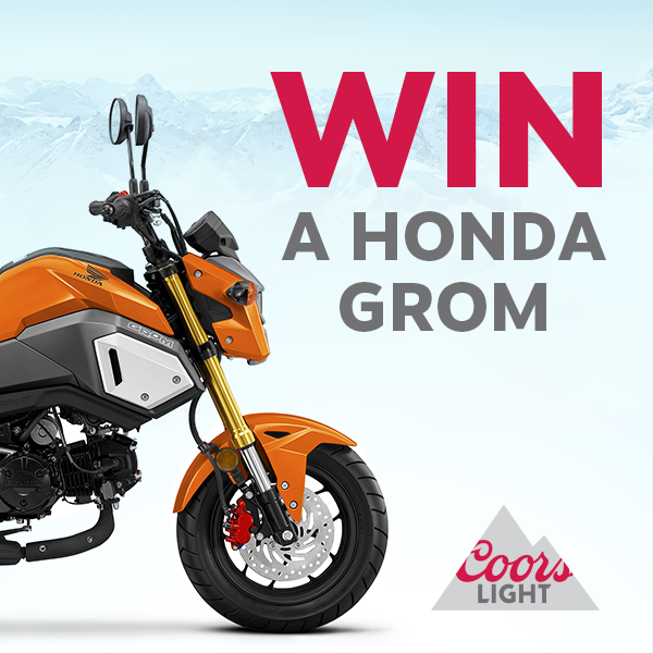 Coors Light Honda Grom Giveaway